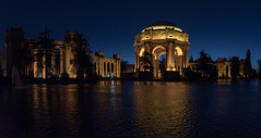 Palace of Fine Arts (SF Night No. 6) (ben_leash (Back May 15th)) Tags: blue sanfrancisco california architecture classical neoclassical dome pavillion night classic panorama panoramic