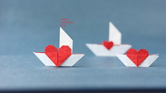 Love Ships (ronatka) Tags: francisow origami origamiheart heart tissuepaper foil ef50mmf18stm