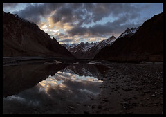 Sunset from Ottur Jangal Camp (doug k of sky) Tags: china camp river doug east valley xinjiang karakoram range jangal karakorum turkestan mountainscapes shaksgam kofsky ottur