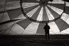 Life inside the balloon (dave.fergy) Tags: newzealand people blackandwhite monochrome mono balloon nz leisure hawkesbay bridgepa leisuresport on1pics