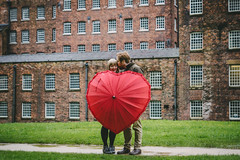 Quarry Bank Mill Engagement (james42andrew) Tags: green mill love grass rain umbrella manchester groom bride engagement airport day heart cheshire northwest sony style bank cotton national rainy trust quarry brolly slt fiance a77 prewedding alderley