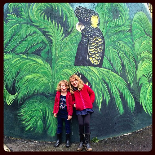 171/2015 • there are few things I like doing more than exploring new places with the Smalls - we are housesitting this weekend while #M does some floor work to the catamaran. On our way to Emerald we stopped in Cockatoo • #172_2015 #mural #cockatoo #bird