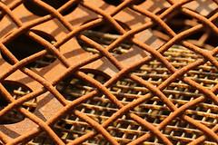 Layers (gripspix (OFF)) Tags: texture grid rust iron rost scrap gitter schrott eisen textur 20150607 scrapyardbeauties
