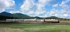 GCRY 237, #2, WILLIAMS, AZ 6-6-15 (TRAINFLAMES) Tags: arizona clouds train williams grandcanyon locomotive passengertrain emd grandcanyonrailway f40ph