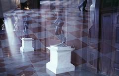 (klausfish) Tags: london history film feet statue 35mm lights minolta legs doubleexposure dream checkers hamptoncourtpalace checkeredfloor minolta700si minoltamaxxum700si