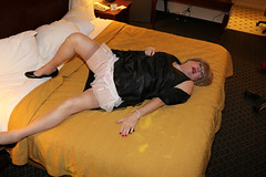 new111302-IMG_5394t (Misscherieamor) Tags: tv feminine cd motel tgirl transgender mature sissy tranny transvestite crossdress ts gurl tg lbd travestis littleblackdress travesti travestie m2f onbed xdresser tgurl slipshowing