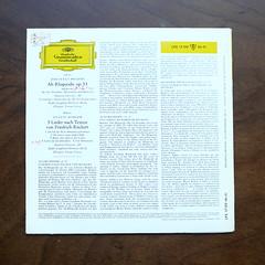 Backside Brahms - Alt-Rhapsodie op.53 & Mahler - 5 Ruckert-Lieder - Maureen Forrester Alt, RSO Berlin, Ferenc Fricsay, DGG LPE 17 199 Mono, 10 inch (Piano Piano!) Tags: art cover lp sleeve hoes plaat 10inch langspeelplaat rsoberlin ferencfricsay brahmsaltrhapsodieop53mahler5ruckertliedermaureenforresteralt dgglpe17199mono discdisquerecordalbumlplangspeelplaatgramophoneschallplattevynilvinyl