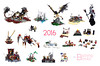 2016 in MOCs (burningblocks) Tags: lego moc compilation poster collage