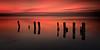 Sentinels [Explored] (Langstone Joe) Tags: sentinels portsmouthharbour havant haylingisland hampshire seascape billyline sunset reflections langstone longexposure