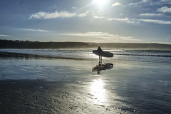 Winter surfing (irishman67) Tags: surf surfing surfer coclare ireland lehinch lahinch seaside beach contranoir sunny