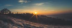 Sunrise on hill (Chloé +++) Tags: sunrise hill lever de soleil colline paysage landscape panorama panoramique france occitanie midipyrénées sun canon os400d nuages clouds sky ciel hiver winter