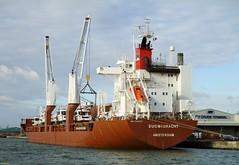 The Suomigracht in Southampton Docks 14 January 2017 (IslandYorkie) Tags: solentshipping ships boat cargoship suomigracht netherlands generalcargoship citycruiseterminal southampton hampshire southamptondocks southamptonwater