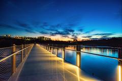 River Walk (Sky Noir) Tags: blue hour nightsky bridge rva richmondvirginia richmondva james river