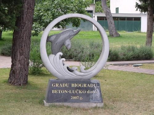 Dolphin sculpture, Biograd na Moru, Croatia