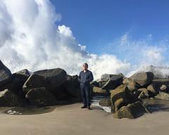 Troy (J Trav) Tags: portrait splash venicebeach california ocean waves sunshine rocks