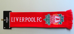 Walk on, walk on (flowrwolf) Tags: flickrfriday liverpoolfootballclubscarf redandwite text indoor inside bright red brightred scarf footbal club andmeabayernfan flickrfridays flowrwolf youllneverwalkalone