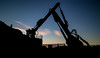 Breaker (DBrownsey) Tags: long exposure clouds silhouette machine machinery industry industrial sky filter