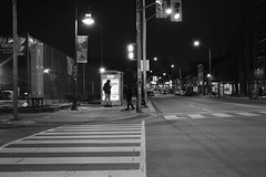 Early morning (hogtown_blues) Tags: toronto ontario canada dufferinbloor bloorstreet bloorstreetwest bloordale bloordalevillage night afterdark earlymorning blackandwhite blackwhite monochrome torontointersections intersection