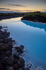 Blue Lagoon (bacon.dumpling) Tags: neargrindavík iceland bluelagoon calm dusk lake landscape nikond750 nopeople nobody outdoor peaceful rock scenic serene serenity sightseeing sigma24mmf14dghsmart sky sunset tranquil tranquility water