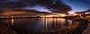 Burntisland Bay (ianrwmccracken) Tags: rock d750 landscape edinburgh water panorama sea sunset fife scotland nikon burntisland cloud scenic shore riverforth beach sky reflection dusk lowlight