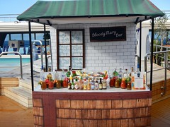Bloody Mary Bar (jjknitis) Tags: 2016 hollandamerica nieuwamsterdam bloodymarybar hotsauce tomatojuice vodka vegetables