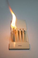 hot headed... (CatMacBride) Tags: matches burn burning fire temper