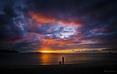 Days End (kijimuna.) Tags: sunset beach sea okinawa japan dusk canon eos6d 沖縄 日本 国頭村 kunigami 奥間ビーチ 海 サンセット 夕陽 空 landscape seascape
