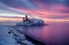 Constant Kindness (karenhunnicutt) Tags: winter ice lakesuperior northshore sunrise hollowrock grandportage minnesota karenhunnicuttphotographycom