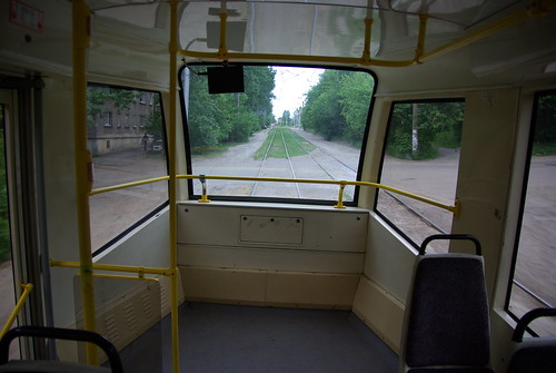 Irkutsk tram 71-619KT 225 interior ©  trolleway