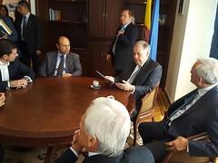 Recibimiento de Hernán Andrade al ex procurador Ordóñez