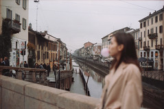 Rivergum (hey_dima) Tags: italy film 35mm 135mm november autumn 2017 trip epson scanner perfection 2580 photo milan milano olympus om1n kodak 400 zuiko girl samokatova loulianni bubble gum pink pinly fashion photoset sweet