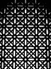 Window Pattern (goodbyetrouble) Tags: bw espaa window spain pattern fenster moorish mezquita andalusia crdoba andalusien muster spanien maurisch mauren