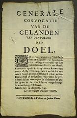 D'een segget d'ander voorts. (Breboen) Tags: old paper print alt polder papier antwerpen vieux affiche altes historisch doel 1741 dijkgraaf