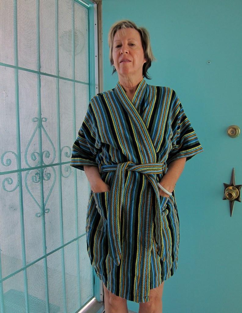 3a03a57875d77 Sandman by Majestic 70s Vintage Striped Terry Robe (JoulesVintage) Tags:  vintage stripes lounge