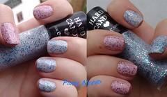 .: DG #6 - Dobradinha (homa mani de glitter) :. (Paty_Net) Tags: glitter hardcandy homamani desafioglitterinado pulguentinho