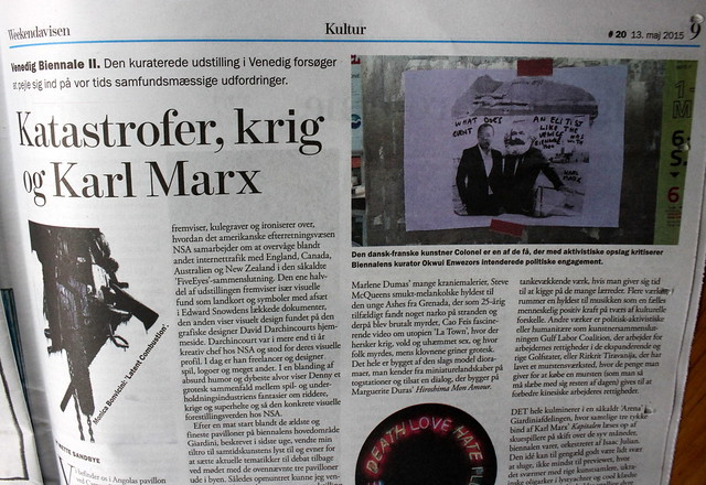KARL MARX @ Venice  Mar 15 WHY DOES THE ELITIST VENICE BIENNALE WANTS TO USE KARL MARX ?  ?