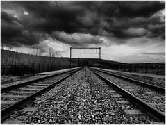 On Railway bridge (RO Photography NL) Tags: railroad belgium tracks belgië trains hdr railwaybridge spoorweg spoorwegbrug remersdaal