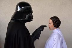 Darth Vader and Princess Leia (1) (masimage) Tags: star starwars costume cosplay leicester disney princessleia darth wars vader darthvader leia nationalspacecentre 501stlegion ukgarrison starwarscostume starwarscosplay returnofthegarrison2015