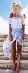 Wrap Maxi Skirt Outfit Idea (yvonneli05) Tags: skirt strapless outfits streetfashion summeroutfits wrapskirt straplesstop outfitssummer