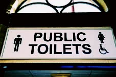 Save our toilets!             The Govt, @CommunitiesUK, must not let parishes get 'caught short' over public toilets says @NALC #localism #localgov #publictoilets http://tinyurl.com/oszchgb http://www.bbc.co.uk/news/uk-politics-33229162 (jonesmr199) Tags: uk england white black english public sign europe european derbyshire united kingdom western derby toilets publictoilets localism localgov