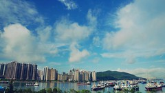 Today's Beautiful City Landscape.06.26 (crystalchan777) Tags: city blue sea sky mountains beautiful beauty clouds buildings boats hongkong landscapes ship cityscape harbour sharp cloudscape brighterday blueskyclouds cityscapephotography flickrhongkong flickrhkma