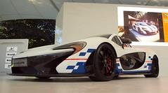 McLaren P1, Goodwood Festival of Speed 2015 (Hammerhead27) Tags: auto show white car wheel festival speed low screen front voiture mclaren fos supercar goodwood p1 2015