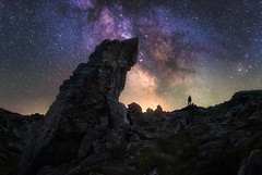 Stargazer (@hipydeus) Tags: alps stars austria rocks nightsky alpen epic milkyway milchstrasse