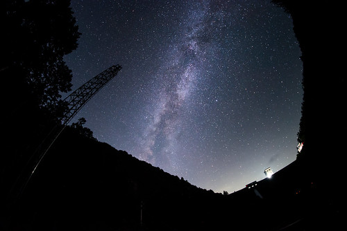 Milky Way above Ure Dam