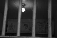 Artist of Alcatraz (Marie - Laure) Tags: blackandwhite usa art monochrome prison alcatraz