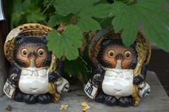 Two Tanuki figures Gion