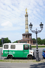 Siegessäule (Red Cathedral has left Osaka) Tags: auto berlin green car germany automobile sony police oldtimer lantern polizei siegessäule kanzlei eventcoverage a6000 streetpower kanzelei