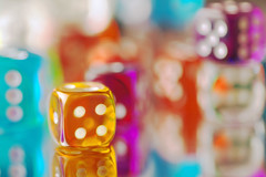 Orange You Lucky-Getty (JebbiePix) Tags: orange dice gambling blur game macro square four colorful die dof risk pentax shapes sigma games spot dot depthoffield number gaming luck cube leisure chance dots shape