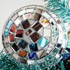 01/08/17, Day 8: Underneath the Disco Ball (Painting with Dawn's Light) Tags: smartphonephotography lookingstraightup 2017photoproject turquoise frontcamera myphotooftheday photographicdepot silver lookingupfrontcameraproject2017 unusualview newyears 365dayphotochallenge discoball ornament newproject mirror photochallenge 365days photoproject reflection photooftheday 365dayproject