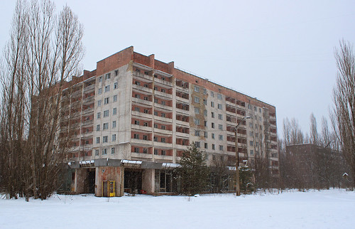 Abandoned apartment building in Pripyat